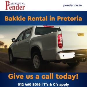 bakkie rental Pretoria